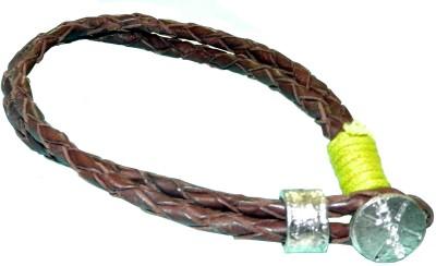 Pearls India Leather, Metal, Cotton Dori Bracelet