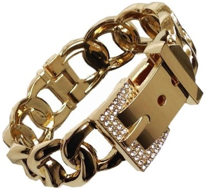 Grace Fashion Villa Alloy Zircon 23K Yellow Gold Bracelet
