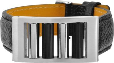 Inox Jewelry Stainless Steel, Leather Bracelet