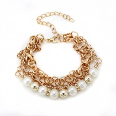 "Senecioâ""¢ Alloy, Plastic 18K Rose Gold Bracelet"