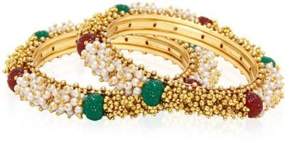 Jewels Galaxy Alloy Bangle Set(Pack of 8) at flipkart