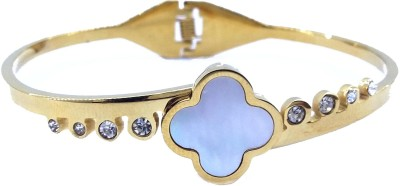 Gurjari Steel Yellow Gold Bracelet