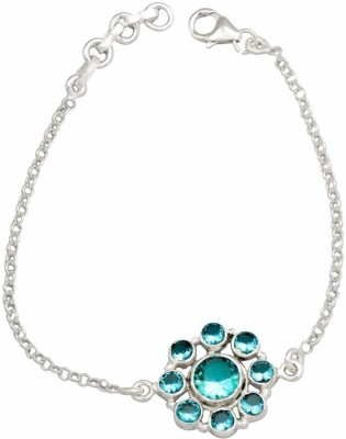 YugshaJewels Silver Topaz Bracelet