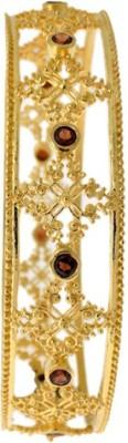 Aabhushan Jewels Sterling Silver Garnet Rhodium Bracelet