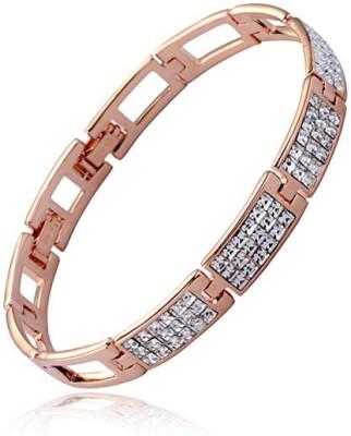 AR Italian Crystal Alloy Swarovski Crystal 18K Rose Gold Bracelet