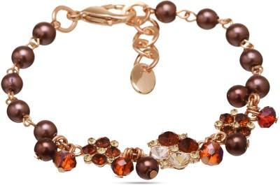 Sparkle Street Alloy, Crystal, Glass Bracelet
