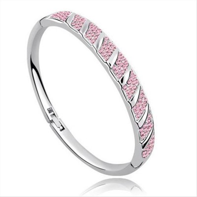 Caratcube Alloy Crystal White Gold Bracelet