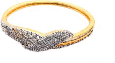 Waama Jewels Metal Cubic Zirconia Yellow Gold Bracelet