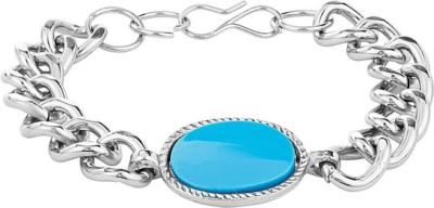 D&D Alloy Onyx Silver Bracelet