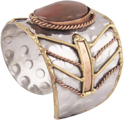 Shining Jewel Brass Copper Cuff