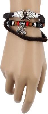 Jewelizer Leather Bracelet