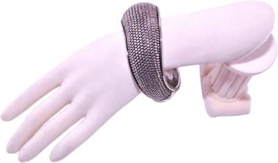 Hunar India Metal Black Silver Bracelet