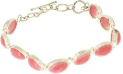 Aabhushan Jewels Sterling Silver Onyx Rhodium Bracelet