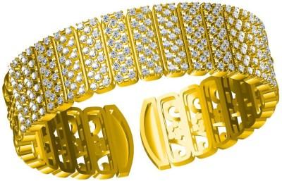 Twisha Alloy Cubic Zirconia 23K Yellow Gold Kada