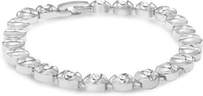Mahi Alloy Rhodium Bracelet