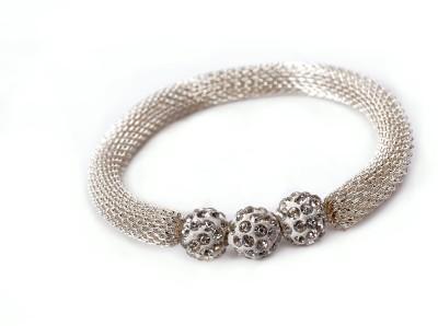 De Beaute Alloy Silver Bracelet