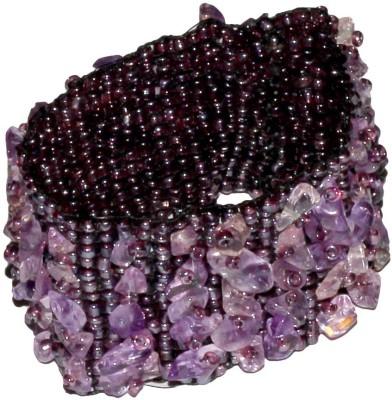 Satyamani Stone Amethyst Bracelet