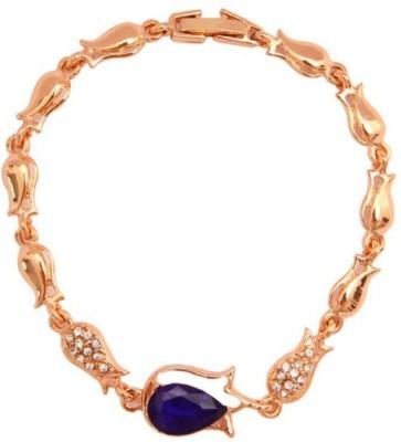 Lady Rainbow Alloy Rose Gold Charm Bracelet