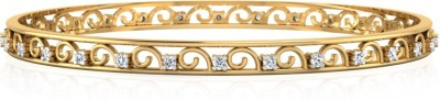 IskiUski The Ayla Yellow Gold 14kt Swarovski Crystal Bangle(Yellow Gold Plated) at flipkart