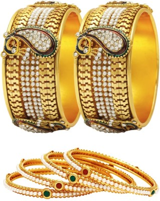 Jewels Galaxy Alloy Bangle Set(Pack of 6) at flipkart