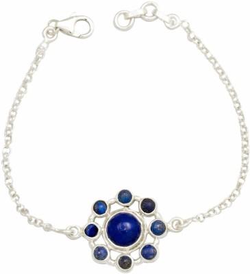 YugshaJewels Silver Lapis Lazuli Bracelet