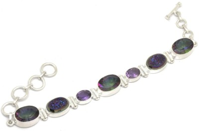 YugshaJewels Silver Quartz, Amethyst Bracelet