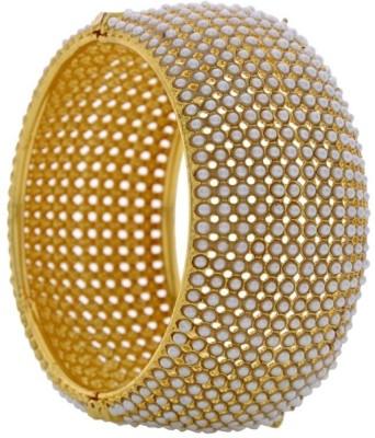 Pearls Cart Alloy Yellow Gold Kada