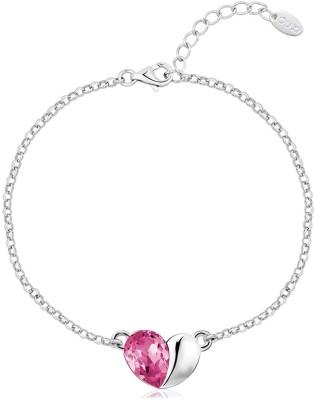 Karatcart Zinc Zircon Platinum Charm Bracelet