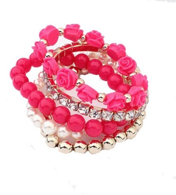 Amour Alloy Crystal Bracelet Set