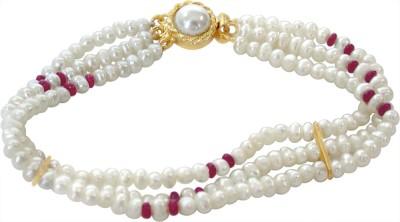 Surat Diamond Metal Ruby, Pearl Bracelet