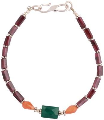 Kirti Gems Sterling Silver Onyx Bracelet
