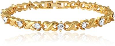Mahi Brass, Alloy Crystal Yellow Gold Bracelet