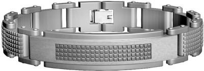 Peora Stainless Steel Rhodium Bracelet