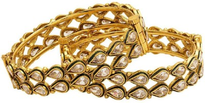 Navrang Copper Crystal Rhodium Bangle Set(Pack of 2) at flipkart
