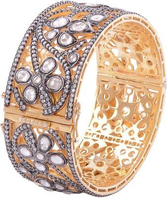 Silvery Silver Zircon Bracelet