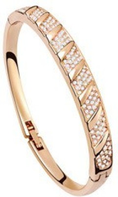 Silver Shoppee Alloy Cubic Zirconia Yellow Gold Bracelet