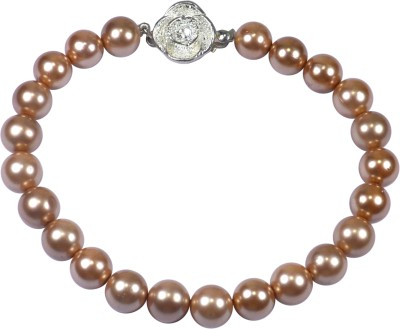 Pearl Paradise Fabric Pearl Sterling Silver Bracelet