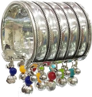 Gurjari Brass Black Silver Cuff