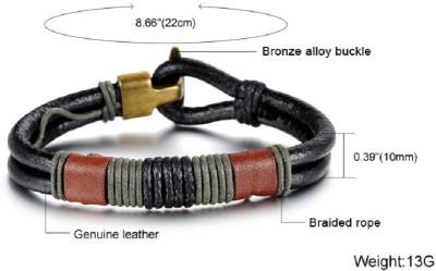 Amyra Lifestyle Leather Bracelet