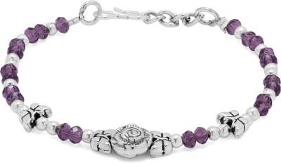 Voylla Alloy Crystal Silver Bracelet