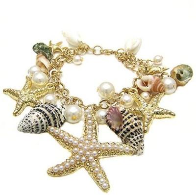Jewel Touch Alloy Charm Bracelet