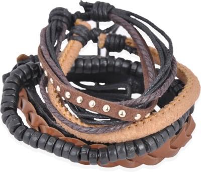Ayesha Leather Bracelet Set
