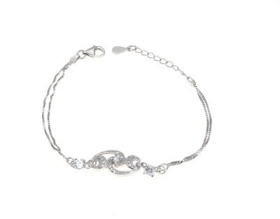 BL Silver Sterling Silver Cubic Zirconia Bracelet