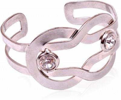 Trendy Baubles Metal Rhodium Cuff
