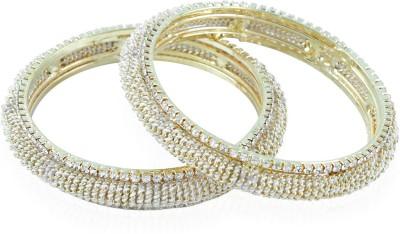 BoBell Alloy Beads White Gold Bangle Set