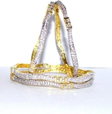 Opal Touch Alloy Rhodium Bangle Set