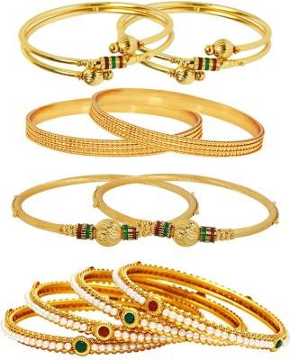 Jewels Galaxy Alloy Bangle Set(Pack of 10) at flipkart