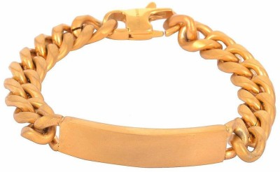 the jewelbox Stainless Steel Cubic Zirconia Yellow Gold Bracelet