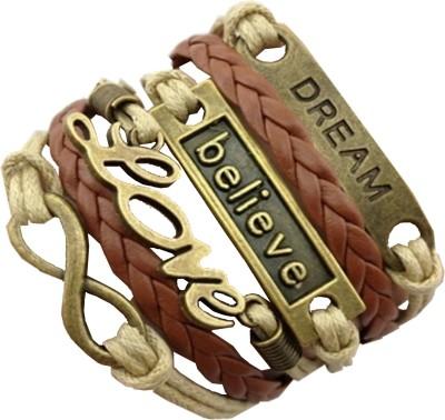 Angelfish Leather, Bronze Charm Bracelet