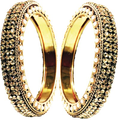 Weavers Villa Alloy 22K Yellow Gold Bangle Set at flipkart
